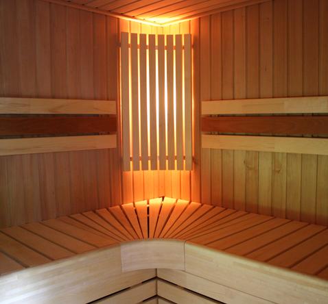 sauna houtbetimmering interieur
