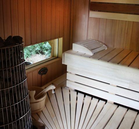 sauna hout interieur