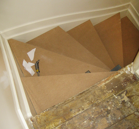 bekleding houten trap wenteltrap