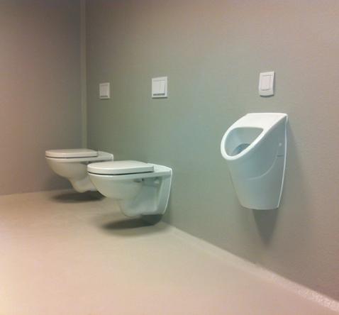 toiletruime heren in aanbouw