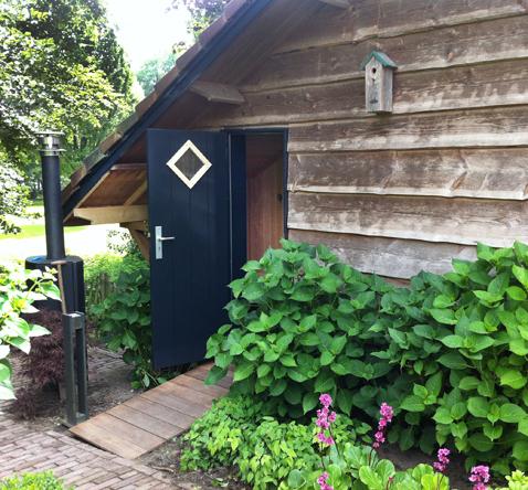 sauna entreedeur bijgebouw