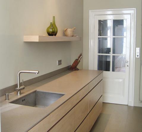 keuken op maat granieten blad stucwerk