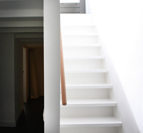 trap naar dakterras en lichtdoorgang