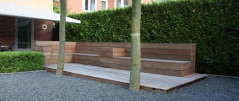 lounge set hout