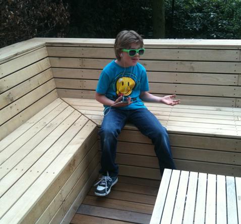 houten hoekbank lounge set